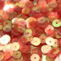 Sequins, red, Diameter 8mm, 260 pieces, 5g, Disc shape, Sequins are shiny, [CZP334]